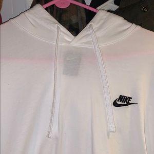 Nike Shirts - Nike White Long Sleeve Hoodie